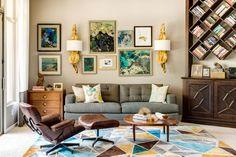 gray living room wood combinations
