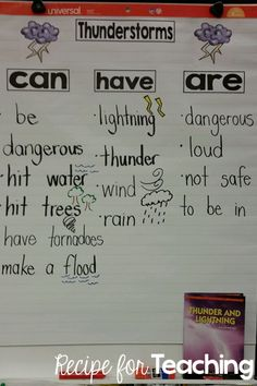 Next Generation Science in Kindergarten - Severe Weather Anchor Chart
