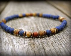 mens bracelet, Lapis Bracelet, mens jewelry, native american,  Minimalist Bracelet, bracelet for men,  stack bracelet, mens beaded bracelet