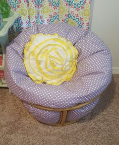 Base Of A Papasan Chair Turned Into Small Kids Chair Using A Bean Bag! Will