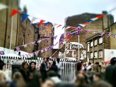 Queens Jubilee - London Street Party -Tilt Shift Camera..