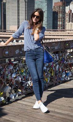 Look: Skinny Jeans + Tênis Branco