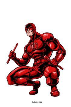 Daredevil Artwork, Daredevil Elektra, Dc Comics Superheroes, Marvel Comics Art, Marvel Comic Character, Marvel Characters, Arte Do Hulk, Daredevil Yellow, Daredevil Matt Murdock