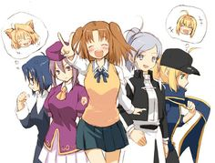arcueid brunestud, ciel, heroine x, riesbyfe stridberg, saber, and others (fate/extra, fate/stay night, fate (series), melty blood, rojiura satsuki : chapter heroine sanctuary, and others)