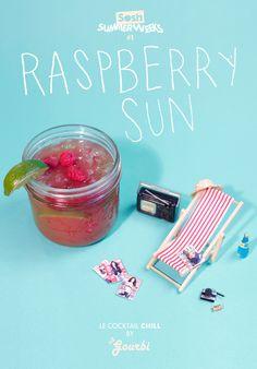 soshfr:  SOSH SUMMER WEEKS #1 - LE COCKTAIL CHILL Le Raspberry Sun: Jus de Framboise + Jus de pamplemousse = la recette d'un weekend réussi!  We also make cocktails! #summerweeks #cocktail #transat #sosh