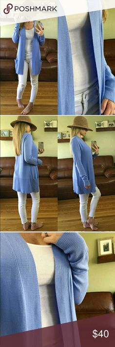 Lightweight Periwinkle Cardigan S Gorgeous color for Spring worn 3 times. Pics from @mrsperkins  NO TRADES PLEASE DON'T ASK ME! Sweaters Cardigans