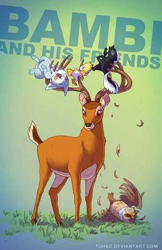 Bambi | 11 More Terrifyingly Violent Illustrations Of Classic Childhood Characters