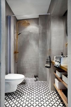30 Amazing Small Bathroom Wall Tile Ideas To Inspire You Bathroom Tile Designs, Bathroom Design Small, Bathroom Interior Design, Small Bathrooms, Black Bathrooms, Contemporary Bathrooms, Interior Modern, Kitchen Designs, Modern Luxury