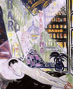 János Vaszary, City Lights, 1930 Modern Art, Portraiture, Contemporary History, Oil On Canvas, Canvas, Painting, Female Art, Art, Anime