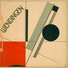 El Lisitskij, russisk, 1890–1941. Omslag til tidsskriftet Wendingen, 1921.
