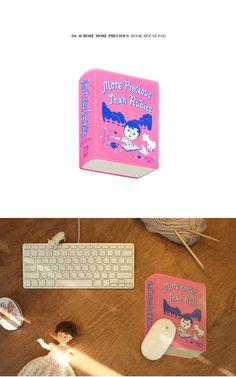 [Ooh La La] ウララ オロル 1537 韓国 ブックマウスパッド book mouse pad PVC素材