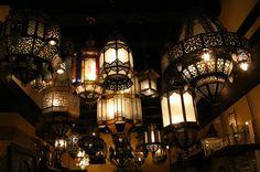 Pendant light fixtures - Middle Eastern decorative lanterns - exotic.