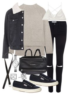 """Untitled #18875"" by florencia95 ❤ liked on Polyvore featuring Frame Denim, Joseph, Topshop, Givenchy, Superga, Victoria's Secret, H&M, Rebecca Minkoff and FOSSIL"