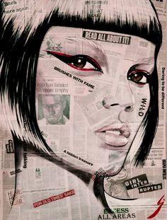 "Saatchi Art Artist Conrad Crispin Jones; Collage, ""Girl Interrupted"" #art"