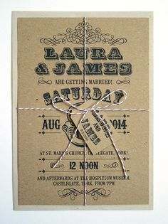 Wild West  Rustic Eco Country Wedding Invitation by STNstationery, £2.50