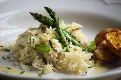 Asparagus Rice With Lemon Butter Sauce