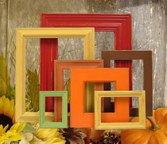 Autumn Home Fall Decor Picture Frame Set. Perfect for decorating, Laura!!