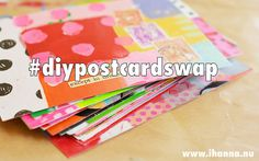 Time to be creative! Join the creative adventure on iHanna's Blog to create, connect and share 10 handmade postcards to send out into the world! You'll be part of a growing community of artists that does this every year! #diypostcardswap