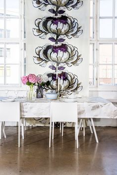Pic via Vallila Floral Curtains, Living Room Inspiration, First Home, Modern Interior Design, Panel Curtains, Scandinavian Design, Architecture Design, Living Spaces, Sweet Home