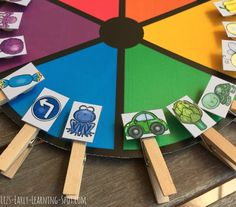 Color Matching Wheel Your kids will love this color matching activity. It's quick and effective and can be used whether your child has 1 minute or 10. Pop over to Liz's Early Learning Spot to download it! I wish you happy teaching and learning! color activities color matching color matching game colors Liz's Early Learning Spot PK PK - 1
