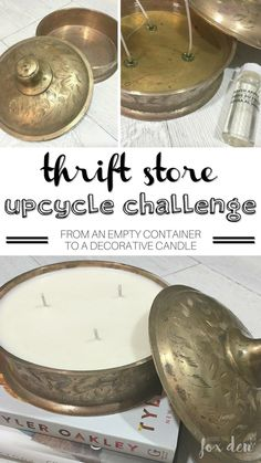 DIY Decorative Candle | Thrift Store Upcycle Challenge! - Inside the Fox Den