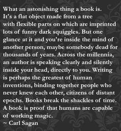 carl sagan ~ A reason to read & write... if you need one.