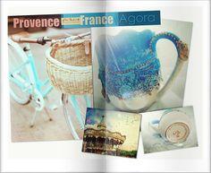 Toscana and Provence vintage unique mug