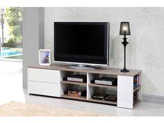 meuble tv couleur bois blanchi contemporain otara | pour ecole ... - Meubles Tv Hifi Design