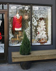 holiday window display
