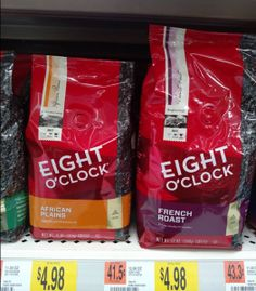 $1.98 Eight O'Clock Coffee 11oz! ($4.98 Value) at Walmart | Get FREE Samples by Mail | Free Stuff