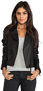 On sale now! At Revolve Clothing. Save on Izi Cow Milled Leather Jacket - TrackIf