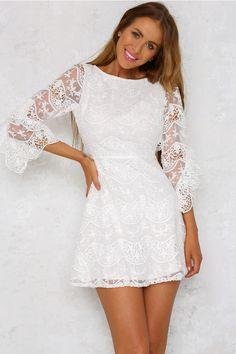 Every Breath Dress White