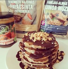 Fahéjas-almás quinoa müzlis pali - NAGYON JÓ (FÉL ADAG ELÉG KETTŐNKNEK) Quinoa, Pancakes, Breakfast, Free, Morning Coffee, Pancake, Morning Breakfast, Crepes