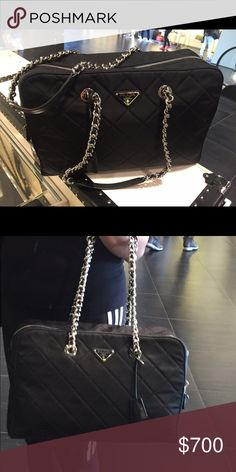 Brand new Prada Bag Brand new Prada bag in silver chain. Size Large.Comes with dust bag Prada Bags Shoulder Bags