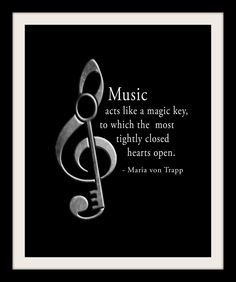 Maria von Trapp Music Quote Music Piano Band School Teacher Black and White Music Room Wall Art Print