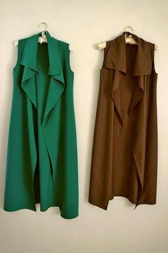 Fall Winter Outfits, Winter Dresses, Hijab Fashion, Fashion Dresses, Sleeveless Blazer, Kimono Pattern, Batik Dress, Lookbook, Blouse Outfit