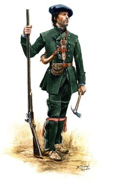 British; Roger's Rangers, 1758 by Don Toiani