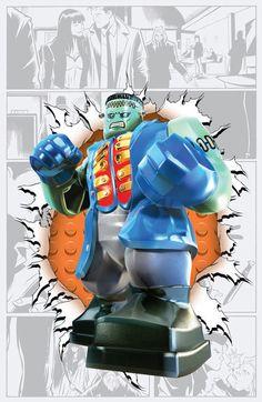 DC Comics LEGO Batman 3 : Beyond Gotham variant cover for Frankenstein and the agents of S. Lego Batman 3, Batman Party, Superhero Party, Batgirl, Legos, Comic Book Covers, Comic Books, Comic Art, Dc Comics