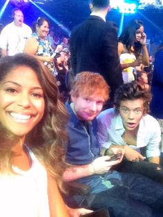Me with my pals ed sheeran and Harry styles