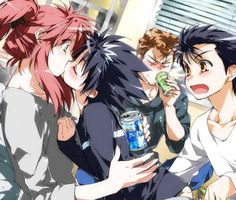 Hiei getting all kissy-face with Kurama. A piece of YuYu Hakusho fanart I found surfing the web~