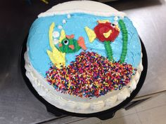 Fish bowl Fish Cake Birthday, Birthday Bash, Cupcake Cookies, Cupcakes, Dairy Queen Cake, Queen Cakes, Beach Cakes, Cake Photos, Vintage Cakes