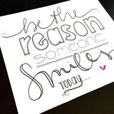 by prncss.lea || be the reason someone smiles today #letterattackchallenge 3/8 @frauhoelle #quote #infiziert #aufdenzugaufspringen #letterattack #font #lettering #tombow #fabercastell #pitt #micron #pigma #handmadefont #handlettering #brushlettering #handwritten #frauhoellewirdmalstolzsein #übenübenüben #frauhoelle #handmadetype #dots #smile #today #lächeln #heute #todo