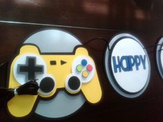 Video Game Party Banner by ThePaperPartyBox on Etsy https://www.etsy.com/listing/130215156/video-game-party-banner