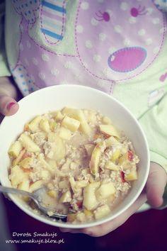 Granola granola z jabłkiem Quesadillas, Granola, Cheeseburger Chowder, Peanut Butter, Oatmeal, Soup, Apple, Breakfast, Health