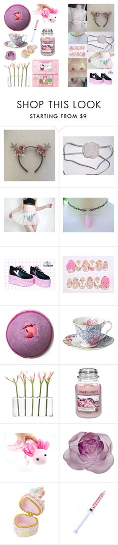 """""""Dating myself"""" by neseblod ❤ liked on Polyvore featuring Y.R.U., Rock Revival, Dot & Bo, Yankee Candle, Hello Kitty, Daum and Glitter Injections"""