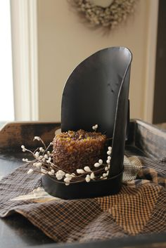Favourite Things ~ Grain Scoop repurposed Candle Holder www.LaceysCountryHome.com & find my page on fb.