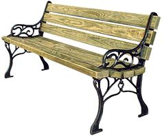 18th Century Style Benches: A unique seating choice, the 18th Century Style Park Bench will add a historic or old-fashioned feel to your park area. - Iowa Prison Industries