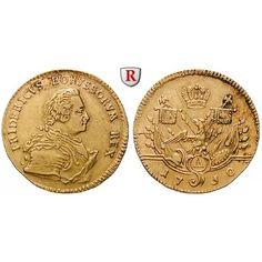 Brandenburg-Preussen, Königreich Preussen, Friedrich II., Friedrichs d`or 1750, ss+: Friedrich II. 1740-1786. Friedrichs d`or 24 mm… #coins