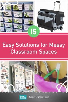 This year, it will be more important than ever to keep school spaces clean and organized. Try these simple ways to tame your messy classroom. Teacher Cart, Clean Classroom, Classroom Solutions, Traveling Teacher, We Are Teachers, Math Manipulatives, Learning Toys, Classroom Organization, School Supplies