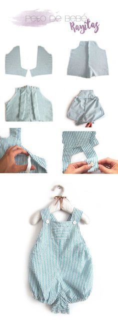 4 tutoriales de ropa de bebé de verano ¡Hazlo tu misma! | Creativa Atelier | Bloglovin'